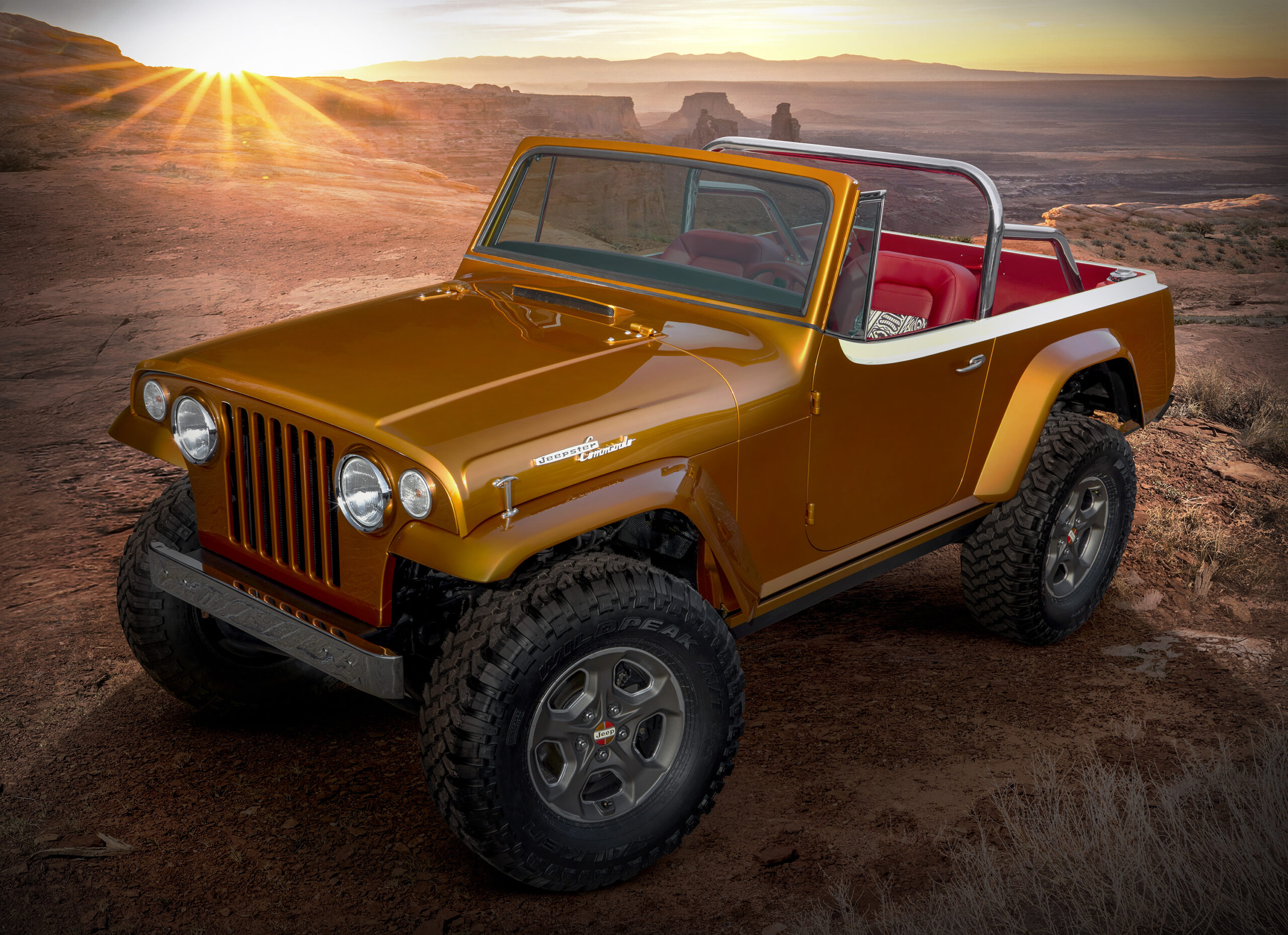 """This year's Jeep®""""Resto-Mod"""" is a throwback to the seco"""
